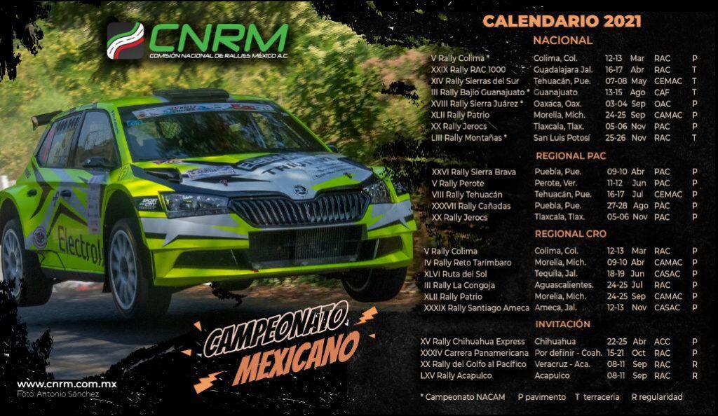 Calendario oficial de rallies CNRM 2021